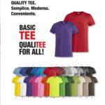 maglie colorate personalizate cento per cento cotone