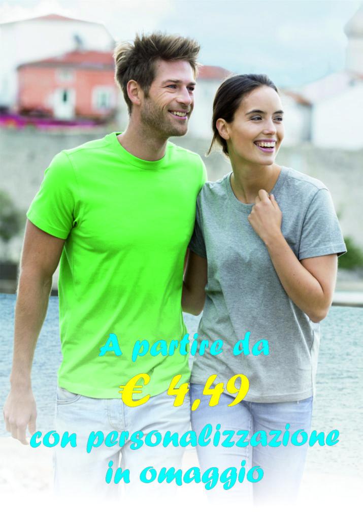 promozione maglietta in cotone colorata e personalizata